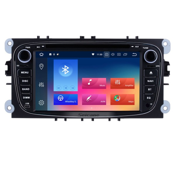 Seicane S127608  Android 5.1.1 2010 FORD TRANSIT CONNECT Radio GPS Car DVD Player with 3G WiFi Bluetooth Mirror Link OBD2 Quad-core CPU Backup Camera HD 1080P Video Steering Wheel Control MP3 AUX