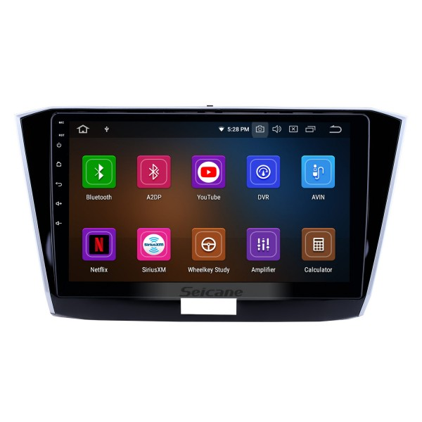 10.1 inch Android 9.0 Radio for 2016-2018 VW Volkswagen Passat Bluetooth HD Touchscreen GPS Navigation Carplay USB support OBD2 Backup camera