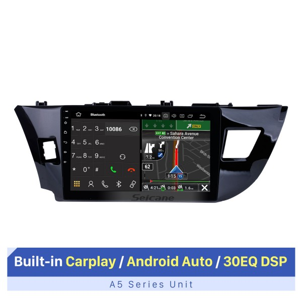 10.1 inch Quad-core Android 10.0 Autoradio GPS navigation system for 2013 2014 2015 Toyota LEVIN Bluetooth HD touch screen stereo support OBD DVR  Rear view camera DVD player TV USB SD 3G WIFI