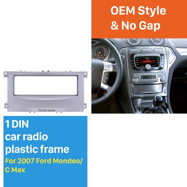 Nice 1Din Car Radio Fascia for 2007 Ford Mondeo C Max Panel Plate Frame Audio Cover Stereo Install
