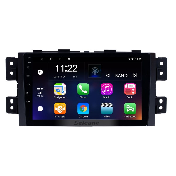 9 Inch Android 8.1 Touch Screen radio Bluetooth GPS Navigation system For 2008-2016 KIA Borrego with TPMS DVR OBD II USB 3G WiFi Rear camera Steering Wheel Control HD 1080P Video AUX