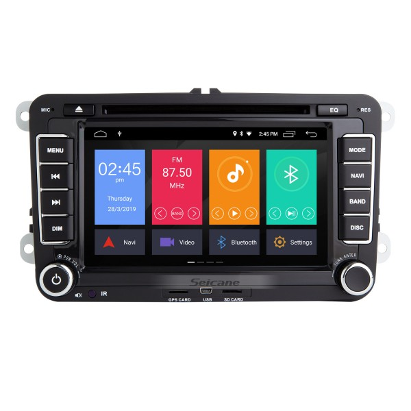 7 inch Android 9.0 GPS Navigation for 2006-2012 VW VOLKSWAGEN MAGOTAN HD Touchscreen Radio with Bluetooth Music USB Audio WIFI Steering wheel control