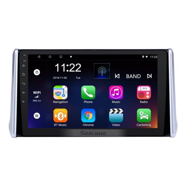 10.1 inch Android 8.1 HD Touchscreen GPS Navigation Radio for 2019 Toyota RAV4 with Bluetooth USB WIFI AUX support Carplay Rear camera OBD TPMS