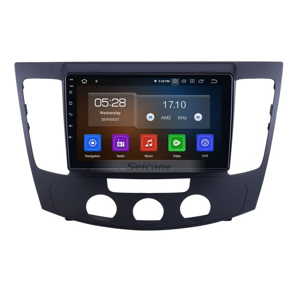 OEM 9 inch Android 10.0 for 2009 Hyundai Sonata Manual A/C Radio Bluetooth HD Touchscreen GPS Navigation System Carplay support DVR