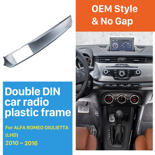 DOUBLE DIN Car Radio Fascia for 2010-2016 ALFA ROMEO GIULIETTA Left Hand drive (LHD) Stereo Installation Trim Panel Frame Kit