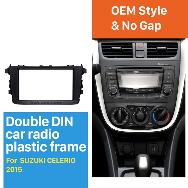 UV Black Double Din 2015 SUZUKI CELERIO Car Radio Fascia Audio Player Panel Frame Auto Stereo
