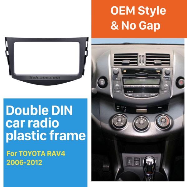 Well-made Double Din 2006-2012 TOYOTA RAV4 Car Radio Fascia Stereo Player Surround Panel CD Trim Installation Frame