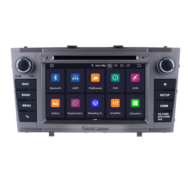 2 Din DVD Player GPS Navigation Android 9.0 Radio for 2008 2009 2010-2013 Toyota Avensis Support DVR Rearview Camera Bluetooth 1080P USB SD WIFI OBD2 Mirror Link