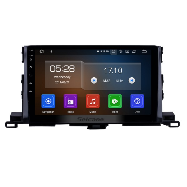 10.1 Inch Android 9.0 GPS Navigation System For 2015 Toyota Highlander Bluetooth Touch Screen Radio support TPMS DVR OBD Mirror Link Backup Camera TV Video 3G WiFi