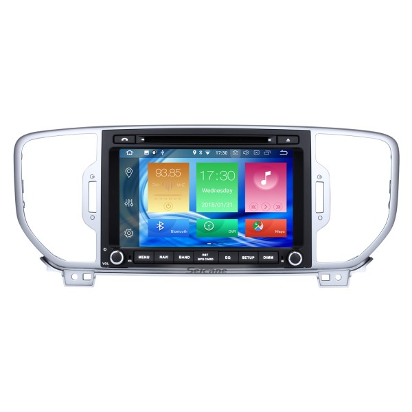 8 inch 2016 Kia Sportage Android 8.0 DVD Player Radio GPS Navigation System with 1024*600 Touchscreen Bluetooth Music 4G WIFI Backup Camera  DVR  DAB+ TPMS