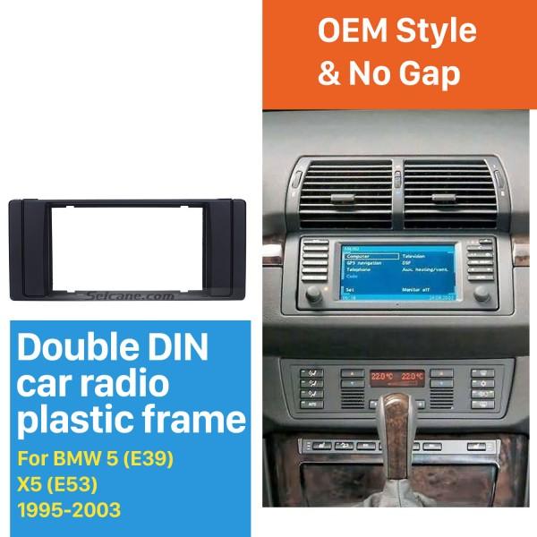 Double DIN 1995-2003 BMW5 E39 X5 E53 Car Radio Fascia DVD Player Mounting Frame Trim Installation Stereo Panel
