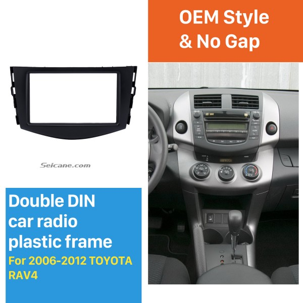 Excellent Double Din 2006-2012 TOYOTA RAV4 Car Radio Fascia Audio Player DVD panel Frame Auto Stereo CD
