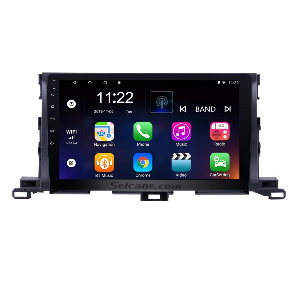 10.1 inch 2015 Toyota Highlander Android 8.1 GPS Navigation System 1024*600 Touchscreen Radio Bluetooth OBD2 DVR Rearview Camera TV 1080P WIFI Mirror link Steering Wheel Control