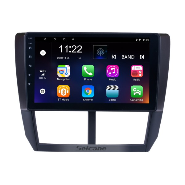 9 Inch Android 8.1 2008 2009 2010 2011 2012 Subaru Forester HD Touchscreen Head Unit GPS Radio GPS Navigation System Bluetooth Phone WIFI Support Steering Wheel Control Backup Camera