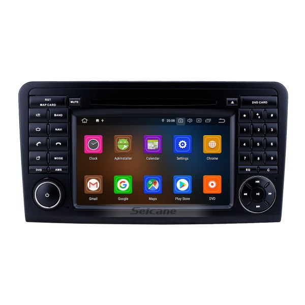 7 inch Android 9.0 GPS Navigation Radio for 2005-2012 Mercedes Benz ML CLASS W164 ML350 ML430 ML450 ML500/GL CLASS X164 GL320 with HD Touchscreen Carplay Bluetooth support DVR