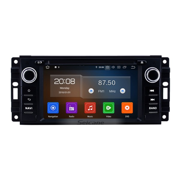 6.2 inch 2005-2011 Jeep Grand Cherokee/Wrangler/Compass/Commander Android 10.0 GPS Navigation Radio Bluetooth Touchscreen Carplay support Backup camera