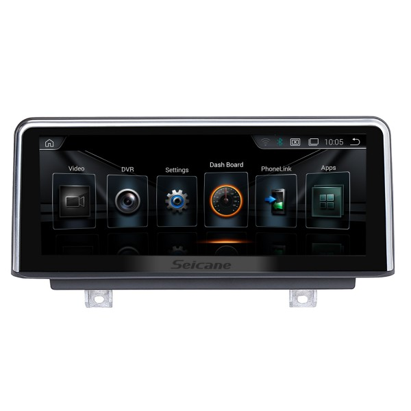 10.25 Inch HD Touchscreen Android 9.0 2011-2016 BMW 1 Series F20/F21 Right Hand Drive Car Stereo Radio Head Unit GPS Navigation System Bluetooth Phone Support WIFI DVR 1080P Video Steering Wheel Control