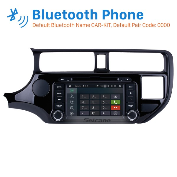 OEM Android 8.0 GPS navigation system for 2011 2012 KIA  RIO with HD 1024*600 touch screen Radio Bluetooth DVD Player OBD2 DVR Rearview camera TV 1080P Video USB SD 3G WIFI Steering Wheel Control Mirror link
