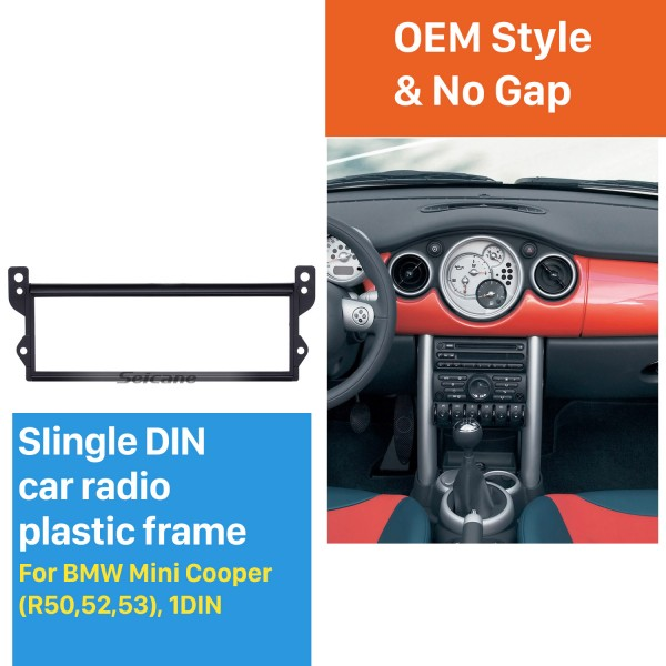 Top Quality One Din BMW Mini Cooper R50 R52 R53 Car Radio Fascia Stereo Frame Dash DVD Player Installation Trim Panel Car Kit