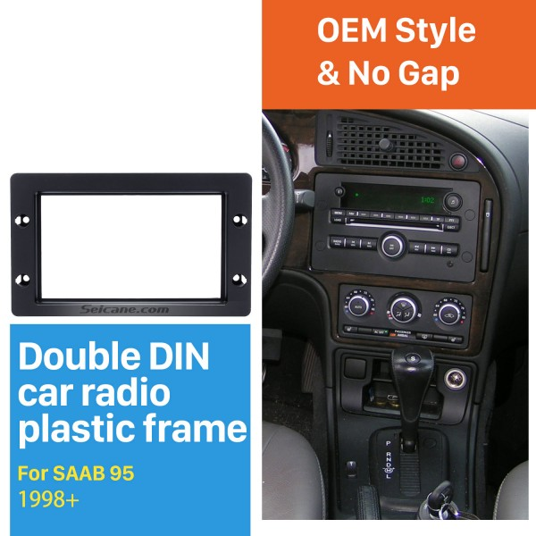 Perfect Double Din Car Radio Fascia for 1998+ SAAB 95 Dashboard CD DVD GPS Fitting Adaptor Stereo Player Frame