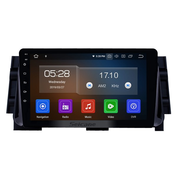 10.1 inch 2017 Nissan Micra Android 9.0 GPS Navigation Radio Bluetooth HD Touchscreen AUX USB Music Carplay support 1080P Video Mirror Link