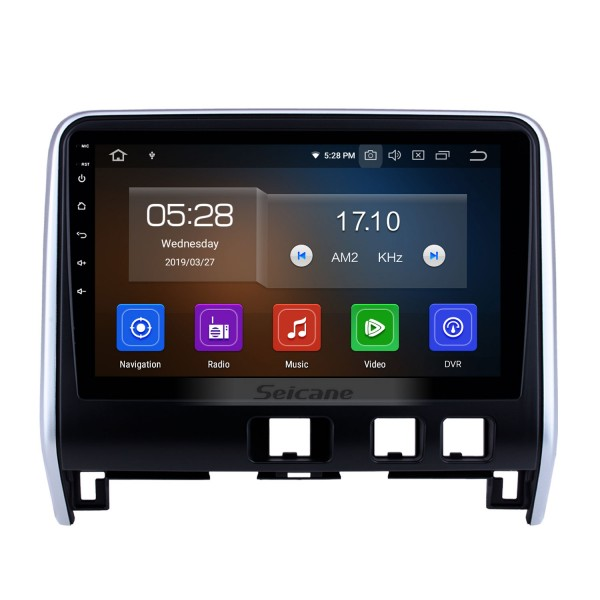 Aftermarket Android 9.0 HD Touchscreen 10.1 inch Radio for 2016 2017 2018 Nissan Serena Bluetooth GPS Navigation Head unit support 3G/4G wifi DVD Player Carplay 1080P