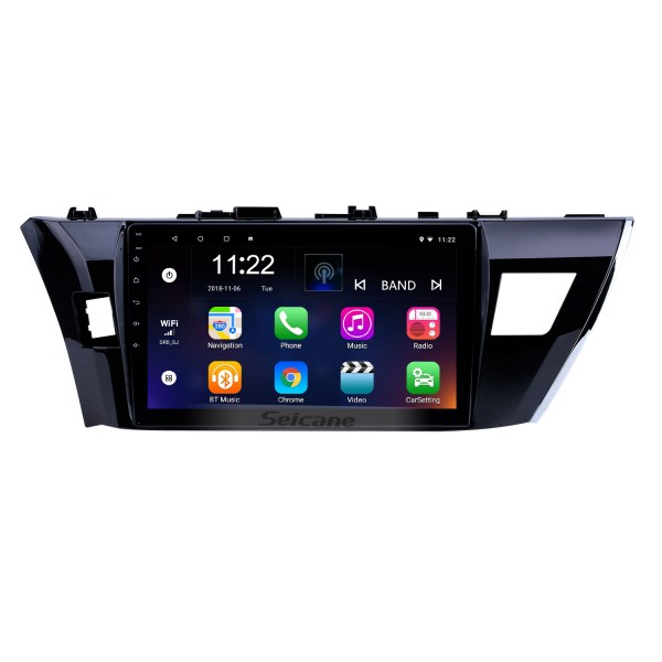For Toyota Corolla LHD 2014 radio navigation system Android 8.1 HD Touchscreen 10.1 inch car dvd player with WIFI Bluetooth support Carplay DVR