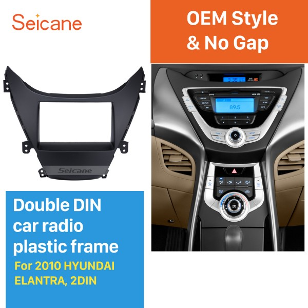 Perfect Double Din 2010 HYUNDAI ELANTRA Car Radio Fascia Surround Panel Fitting Frame Auto Stereo