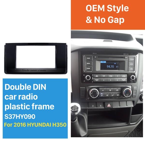 Fascinating Double Din 2016 HYUNDAI H350 Car Radio Fascia DVD Gps Decorative Frame Dash Kit Stereo Install