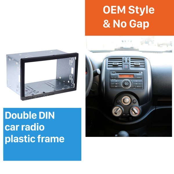 173*98mm Double Din Universal Car Radio Fascia Installation Kit Stereo Frame Panel Dash Kit