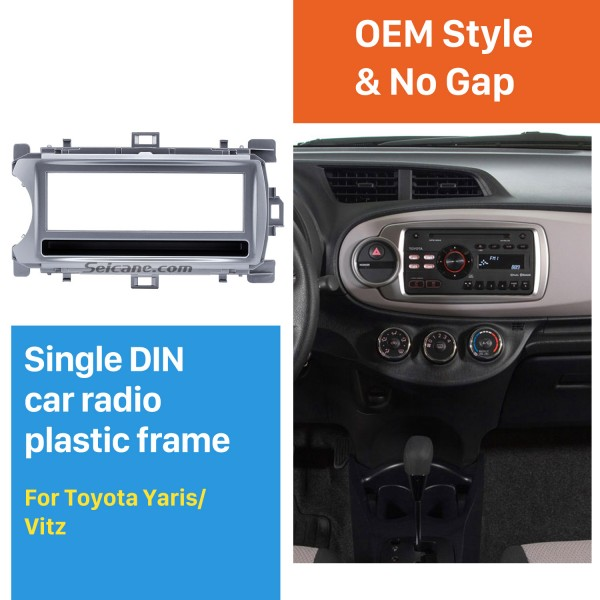 Perfect 1Din 2012 Toyota Yaris Vitz LHD Car Radio Fascia Audio Fitting Adaptor Dash Kit Face Plate Installation Frame