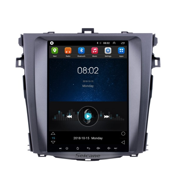 9.7 inch Android 9.1 Multimedia Autoradio GPS Navigation System for 2006-2012 Toyota Corolla Touch Screen 4G WiFi 1080P Mirror Link OBD2
