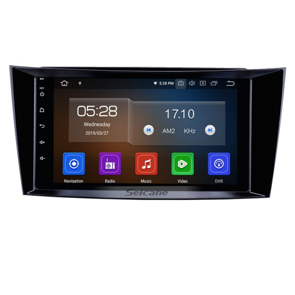 8 inch Android 10.0 GPS Navigation Radio for 2001-2010 Mercedes Benz E-Class W211/CLS W219/CLK W209/G W463 Bluetooth HD Touchscreen Carplay support 1080P