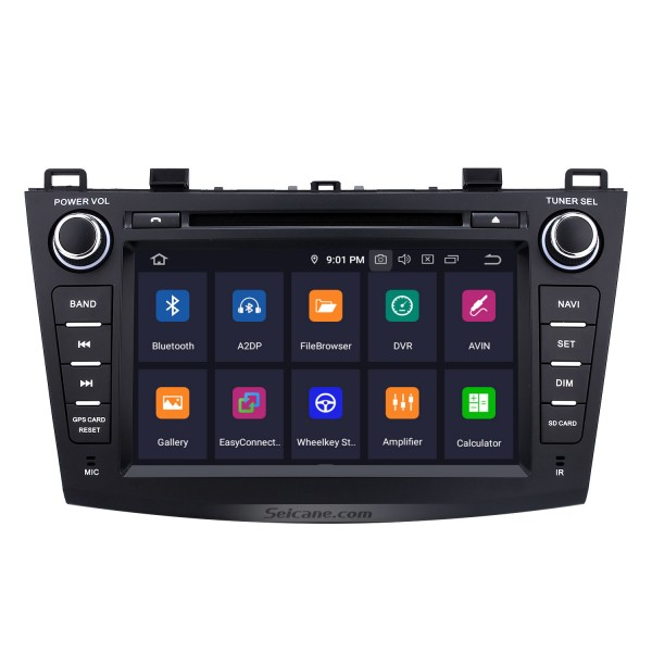 8 inch HD Touchscreen Android 9.0 for 2010 2011 2012 Mazda 3 Radio GPS Navigation System with Bluetooth USB Support 1080P Video Mirror Link