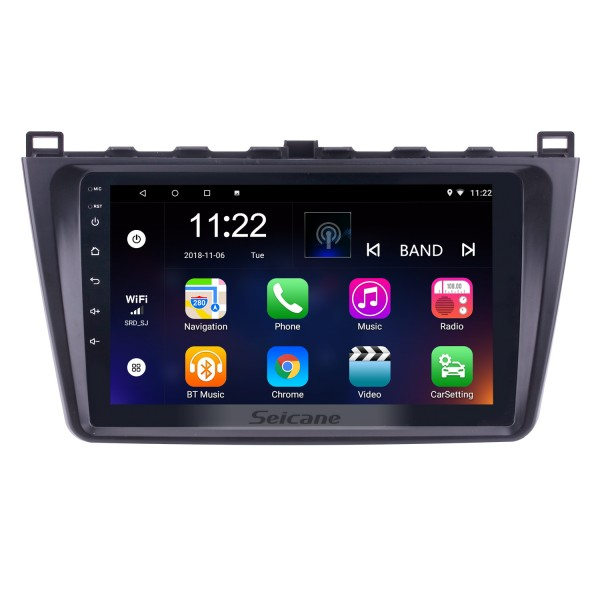 In dash Radio 9 inch HD 1024*600 Touchscreen Android 10.0 For 2008 2009 2010 2011-2015 Mazda 6 Rui wing GPS Navigation System Support Steering Wheel Control DVR OBDII WiFi Backup Camera DAB+