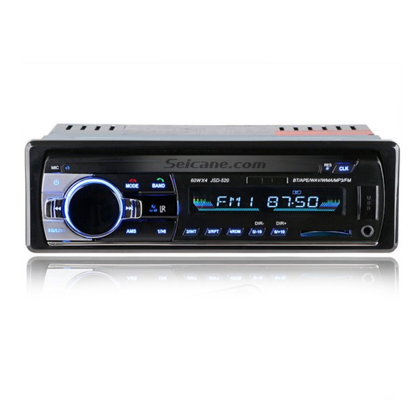 Universal Single 1 Din Audio Bluetooth Handsfree Calls MP3 Player Car FM Stereo Radio with 4 Channel Output USB SD Remote Control Aux