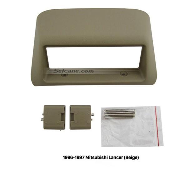 Great Beige 1996 1997 Mitsubishi Lancer Car Radio Fascia Audio Fitting Frame Adaptor Dashboard Panel Trim Bezel