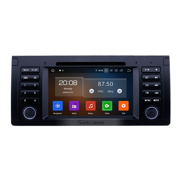 7 inch Android 10.0 GPS Navigation Radio for 1996-2003 BMW 5 Series E39 with Bluetooth Wifi HD Touchscreen Carplay support Digital TV OBD2