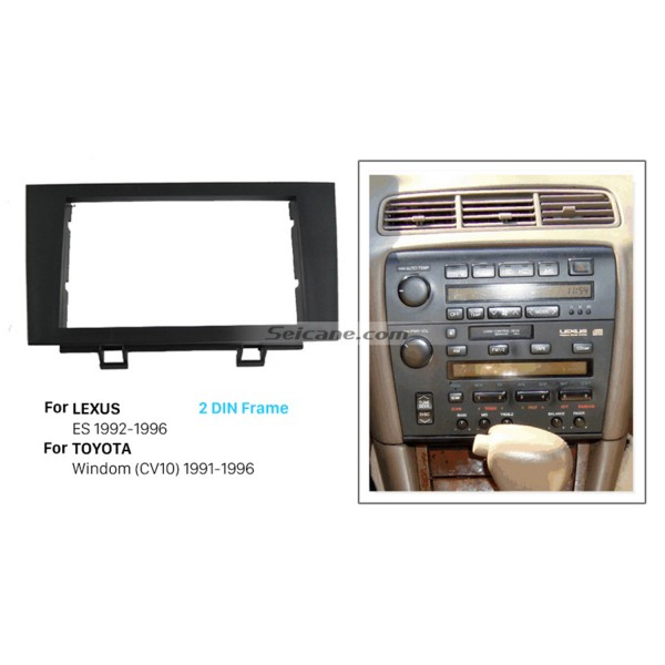 Fashionable Double Din 1996 LEXUS 300 Car Radio Fascia Frame Panel Dash Mount Kit Adaptor DVD Player