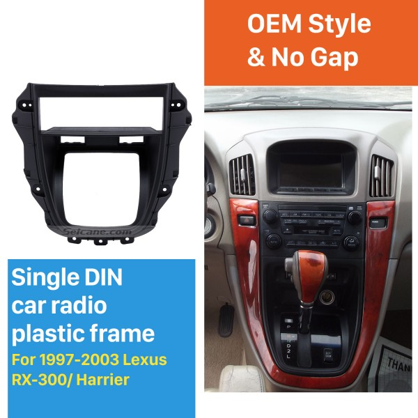 Newest One Din 1997-2003 Lexus RX-300 Harrier Car Radio Fascia Stereo Interface CD Trim Panel Dash Trim Kits Install frame