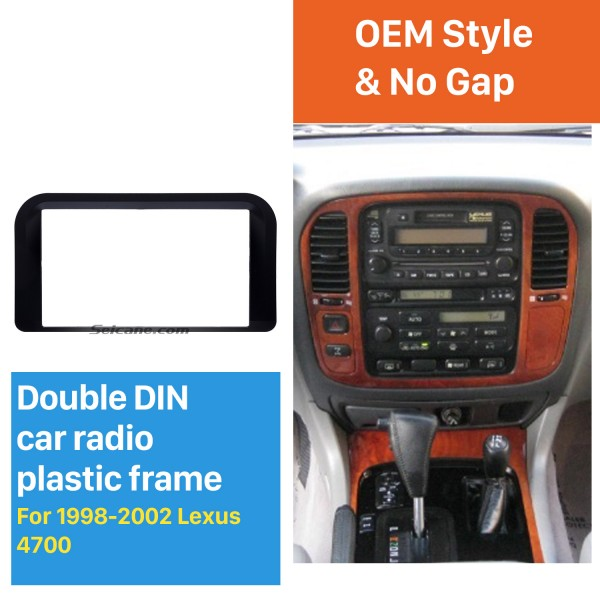 Incredible 2Din 1998 1999 2000 2001 2002 Lexus 4700 Car Radio Fascia Trim Dash CD Installation Kit Auto Stereo Audio Frame