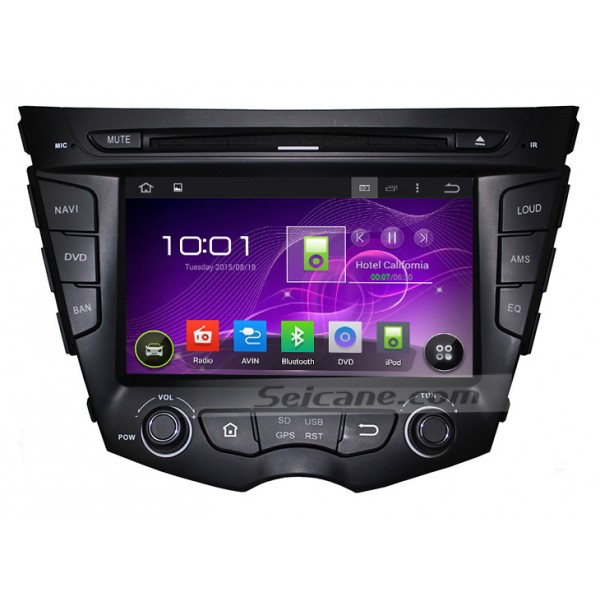 Quad-core Android 5.1.1 Radio GPS Navigation System for 2011-2015 Hyundai veloster with HD 1024*600 touch screen DVD Player OBD2 DVR Rearview camera TV 1080P Video 3G WIFI Steering Wheel Control USB SD Bluetooth Mirror link