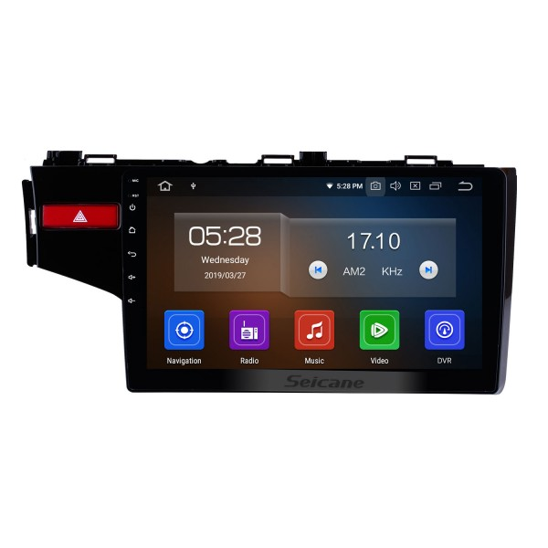 10.2 Inch OEM Android 4.4 Radio Capacitive Touch Screen For 2014 2015 Honda FIT Support 3G WiFi Bluetooth GPS Navigation system TPMS DVR OBD II AUX Headrest Monitor Control Video Rear camera USB SD