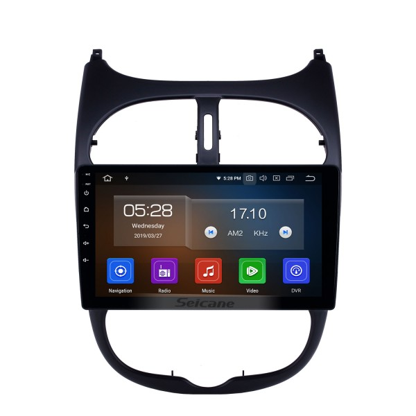 9 inch Android 10.0 GPS Navigation Radio for 2000-2016 Peugeot 206 with HD Touchscreen Carplay AUX Bluetooth support 1080P