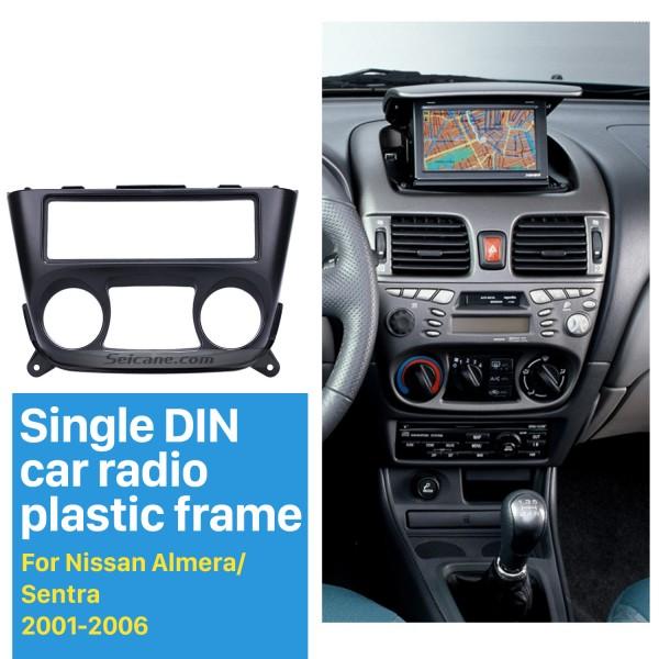 Wonderful 1Din 2001-2006 Nissan Almera Sentra Car Radio Fascia Stereo Dash CD Face Plate Panel Audio Frame