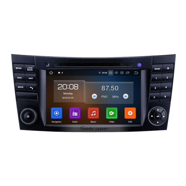 7 inch 2002-2008 Mercedes Benz W211 Touchscreen Android 10.0 GPS Navigation Radio Bluetooth Carplay USB support TPMS Rearview camera OBD2 DVR