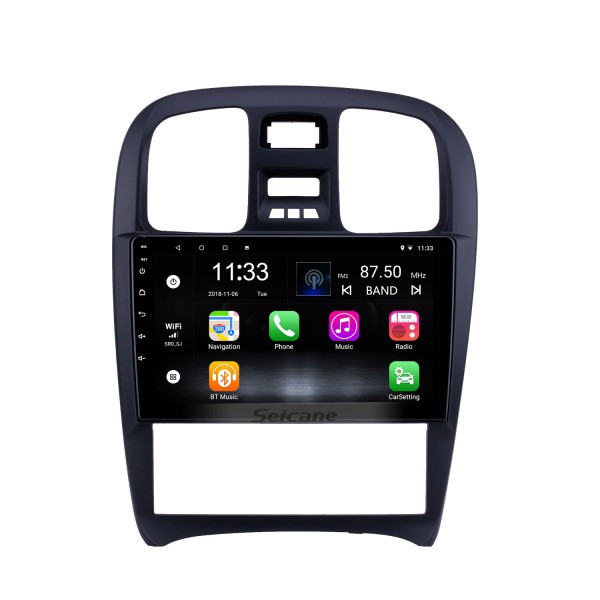 HD Touchscreen 9 inch Android 10.0 GPS Navigation Radio for 2003-2009 Hyundai Sonata with Bluetooth AUX support Carplay TPMS
