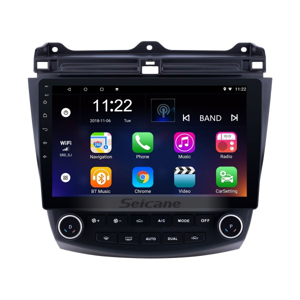 For 2003 2004 2005 2006 2007 Honda Accord 7 Radio Android 10.0 HD Touchscreen 10.1 inch GPS Navigation System with Bluetooth support Carplay DVR