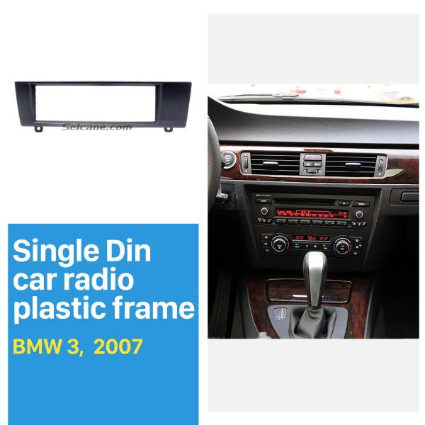 1 Din for 2007 BMW 3 Car Radio Fascia DVD player Frame Trim Installation Decorated Panel Kit
