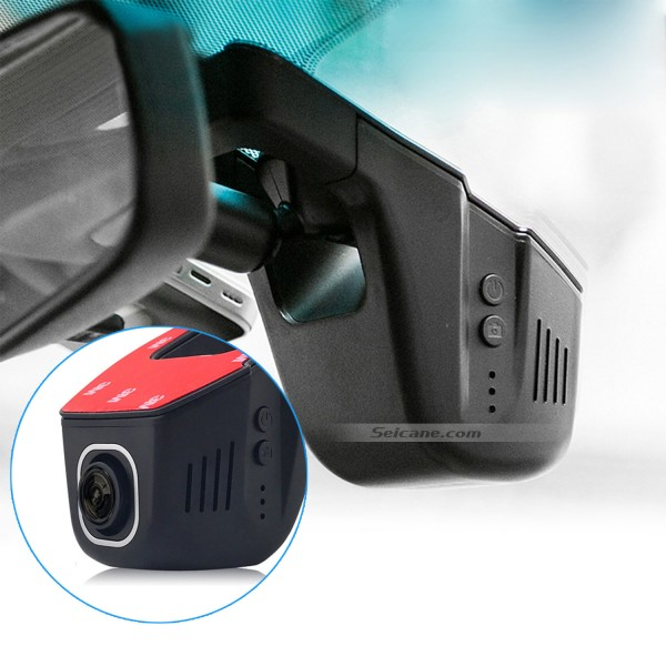 Hidden 170 Degree Wide Angle View HD Universal Car Driving Video Recorder with WIFI Phone Connection Display GPS Driving Trajectory